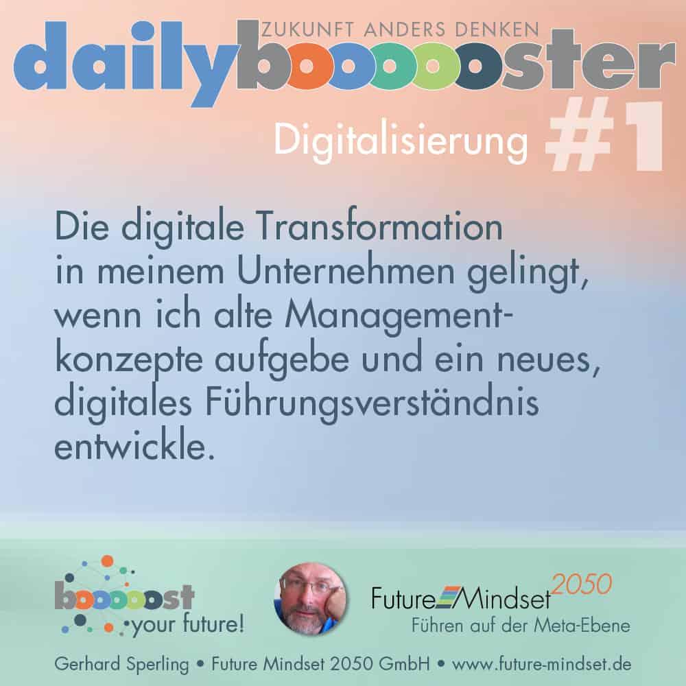 Digitale Transformation gelingt, wenn ich alte Konzepte aufgebe