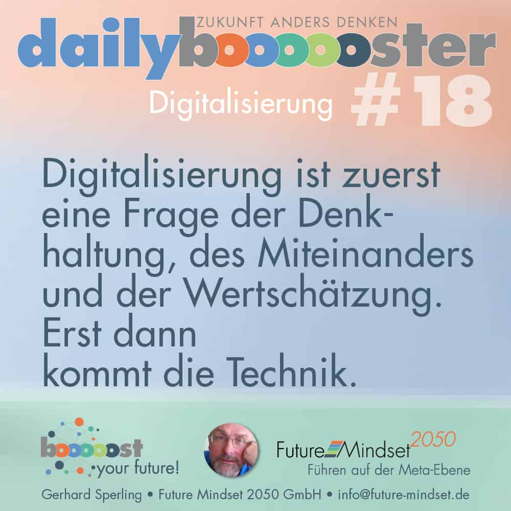 Textgrafik zum Thema Digitalisierung