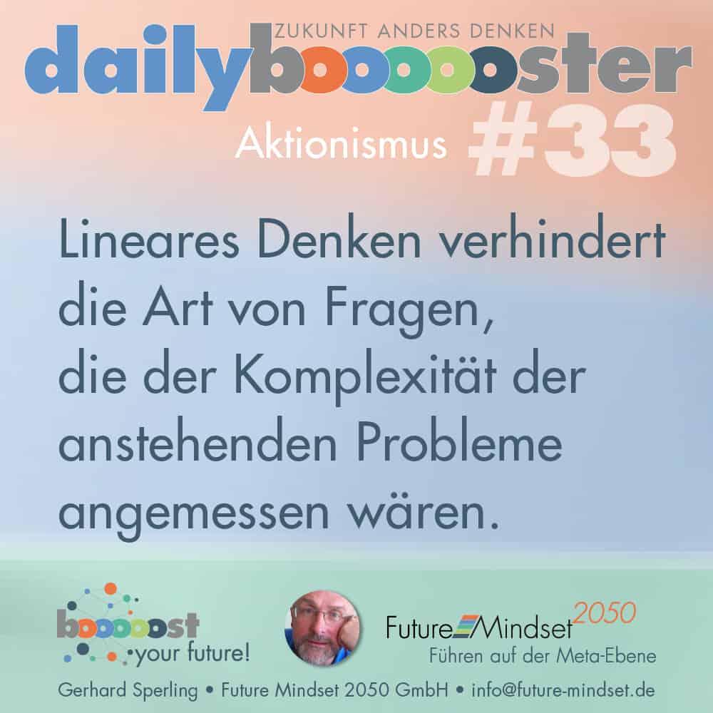 Denk-Impuls: daily boooooster 33 - Aktionismus