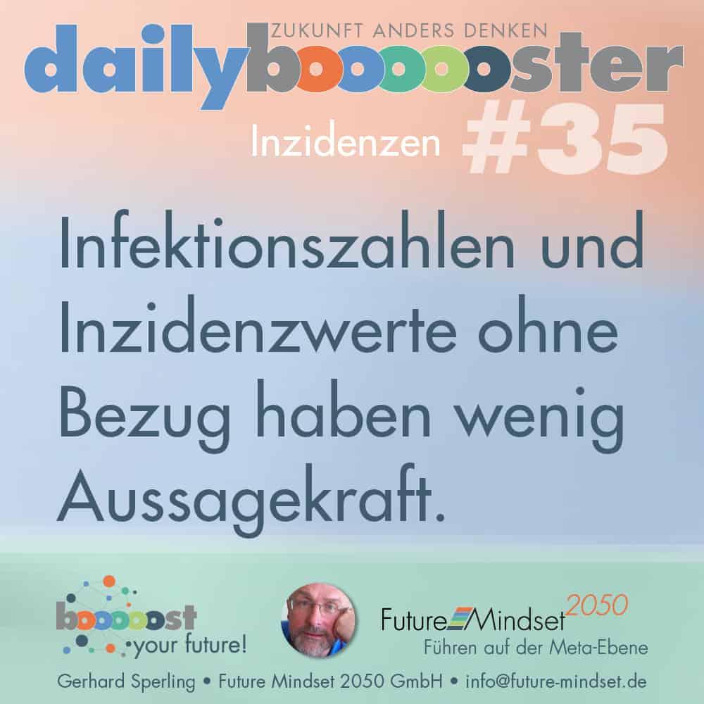 Denk-Impuls: daily boooooster 35: Inzidenzwerte