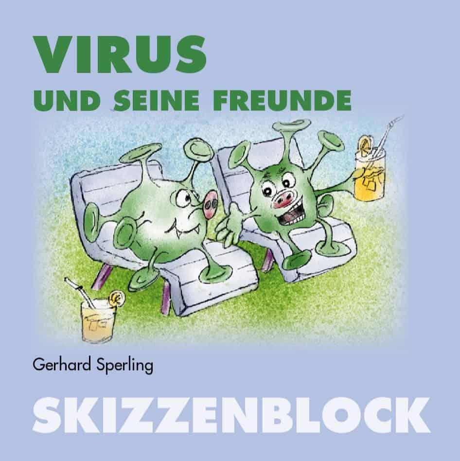 Buchtitel eines Buches mit Cartoons